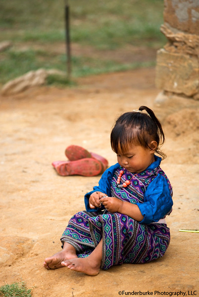 Young girl in village near Punakha - Bhutan