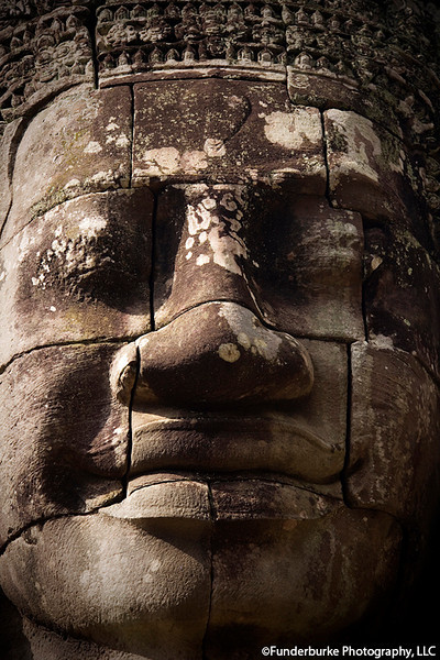 Face of Avalokitesvara at Angkor Thom, Sieam Reap, Cambodia