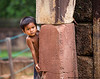 Little boy at Bantay Srei - Siem Reap, Cambodia
