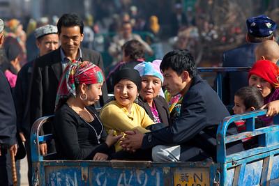 Street taxi on Kucha, Xinjiang, China.