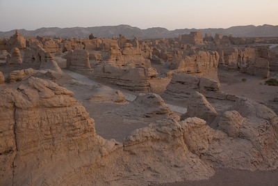 Turpan, Xinjiang, China - September 18,2009:  One of the world best perserved ancient cities Jiaohe dates back to the Han Dynasty. (Photo by: Christopher Herwig)