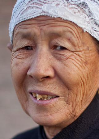 Turpan, Xinjiang, China - September 18,2009: Portrait of senior woman. (Photo by: Christopher Herwig)