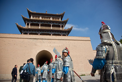 Fortress at Jiayuguan Pass, Gansu, China.