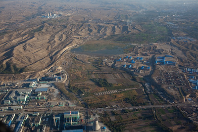 Urumqi,Xinjiang,  China - September 2009: Aerial views north of Urumqi. (Photo by: Christopher Herwig)