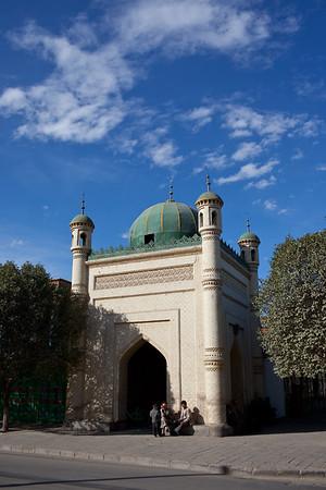 Kucha, China - September 23, 2009:  Mosque in Kucha. (Photo by: Christopher Herwig)
