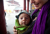 Xian, Shaanxi Province, China - September 9, 2009: Young causcasian women (Malin Herwig 35yrs) travelling with her baby (Felix Herwig 4months) in China. (Photo by: Christopher Herwig)