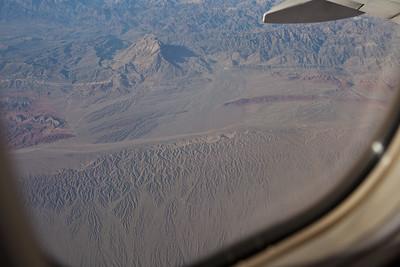 Xinjiang, China - September 2009:  Northern edge of the Taklamakan desert . (Photo by: Christopher Herwig)