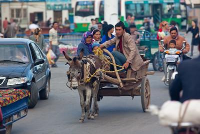 Kucha, China - September 23, 2009: Street life in Kucha. (Photo by: Christopher Herwig)