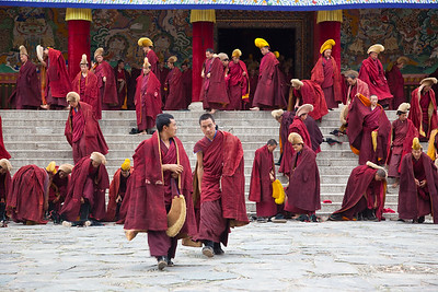 Young Buddhist monks at Labrang Monastry in Xiahe, Gansu, China.
