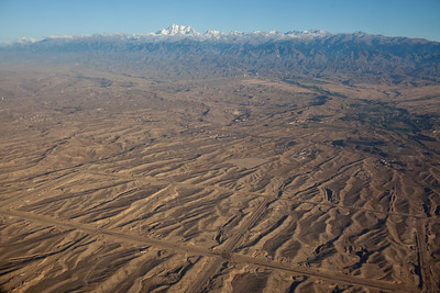 Urumqi,Xinjiang,  China - September 2009: Aerial views south of Urumqi. (Photo by: Christopher Herwig)