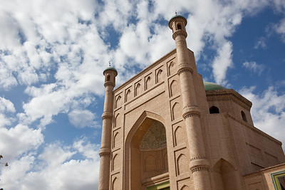 Mosque in Kucha, Xinjiang, China.