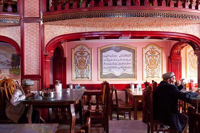 Cafe in Kucha, Xinjiang, China.