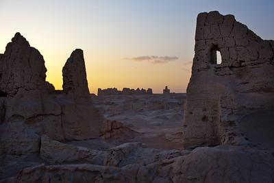 Jiaohe city ruins near Turpan, Xinjiang, China.