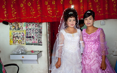 Wedding day in Kucha, Xinjiang, China.
