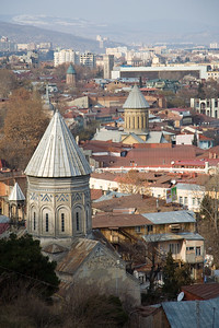 Tbilisi, Georgia - January, 2008: Charming narrow streets in the old of Tbilisi, Georgia. (Photo by Christopher Herwig)