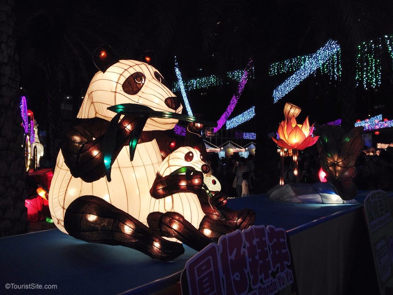 Hong Kong lantern festival panda