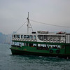 Taking the Star Ferry across to Hong Kong Island