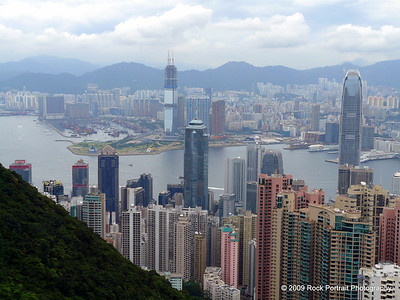 Hong Kong Island and Kowloon from The Peak