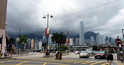 Storm coming in from the Peak, about to temporarily blow away Hong Kong's pollution
