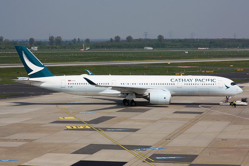 B-LRM Airbus A350-941 c/n 075 Dusseldord/EDDL/DUS 20-04-17