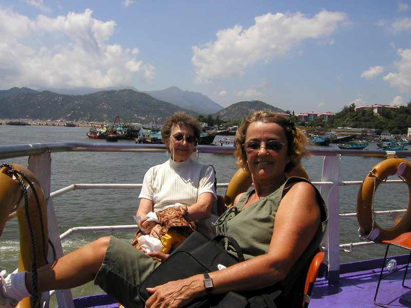 Always grab an outside chair on the stern to enjoy the ride on the ferries to the Islands around Hong Kong