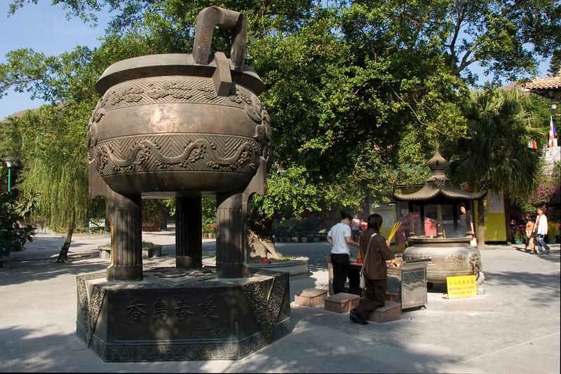 Insence Pot inside Po Lin Temple in Hong Kong