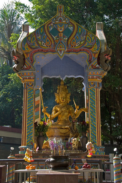 Beautiful and exquisite shrine inside the BUddhist Cemetery in Hong Kong