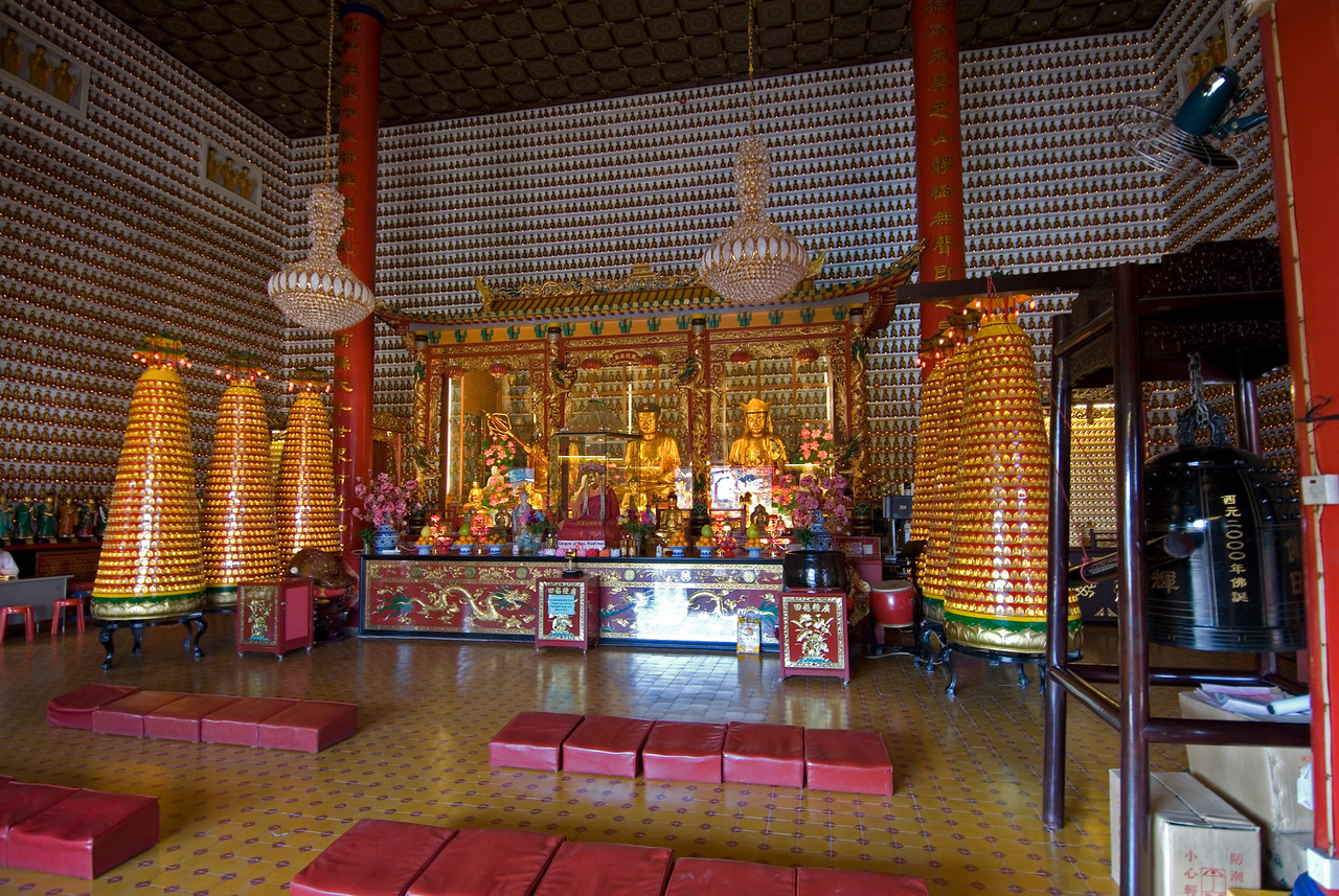 Main Shrine at 10,000 Buddhas Temple in Hong Kong