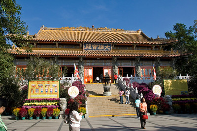 Entrance to the Shrine at Po Lin Temple in Hong Kong