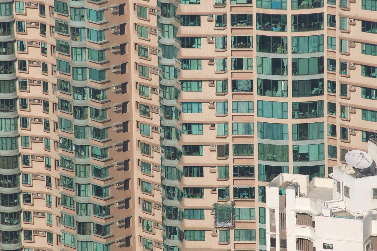 Shot of the Apartments from Victoria Peak in Hong Kong