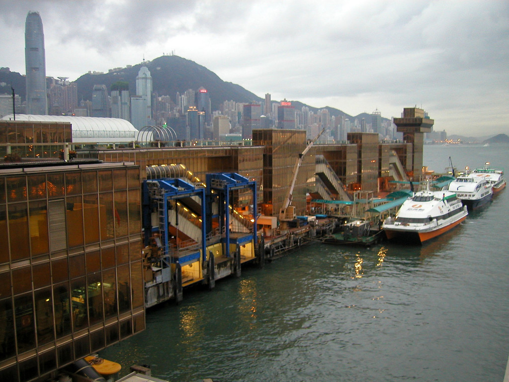 Hong Kong / Macau Ferry Terminal in Kowloon.(2002).