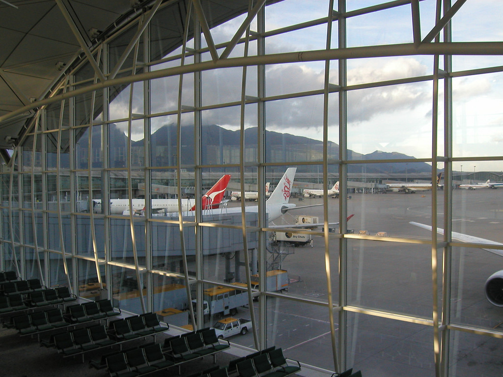 Hong Kong Airport on Lama Island (2002).
