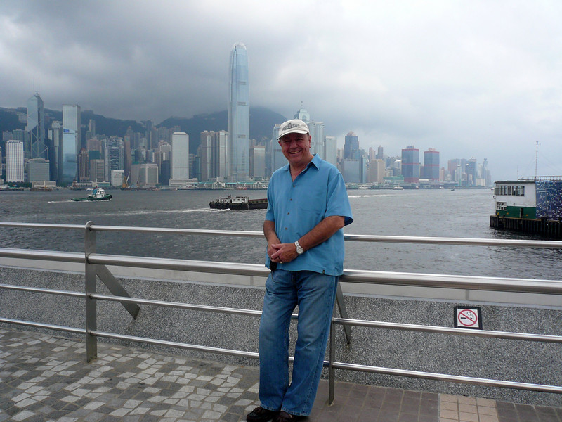 Skyline and me, Hong Kong