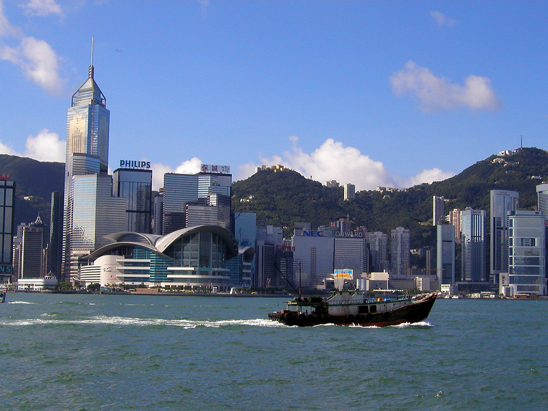 Hong Kong Island skyline from Kowloon - 2002