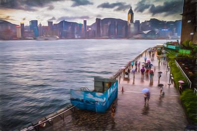 Romancing HK Bay.