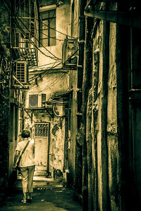 Intriguing street life scene.