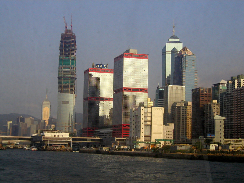 Hong Kong Island city scape- Aug 2002