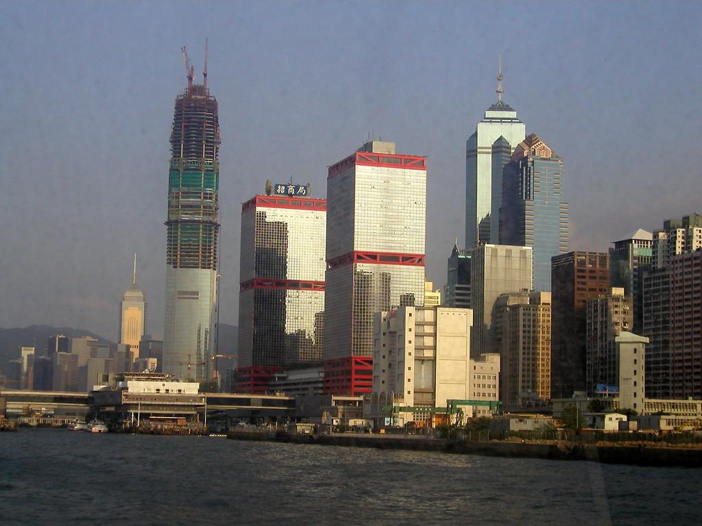 Hong Kong Island city scape- Aug 2002
