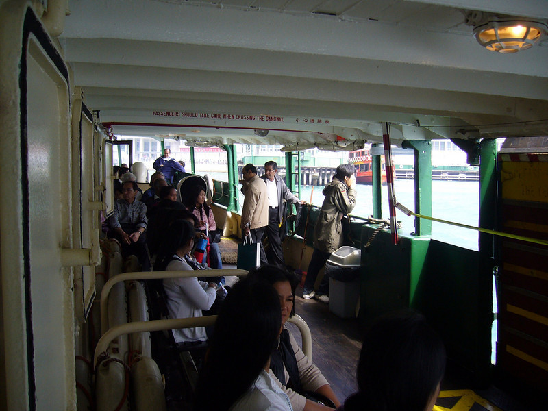 Lower Deck seating area Star Ferry, a ride I always take, never to be missed