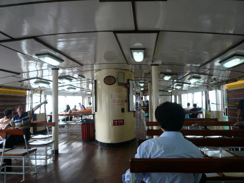 Upper Deck seating on the Star Ferry Star Ferry, a ride I always take, never to be missed