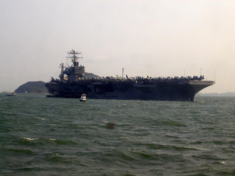 Ships of the Pacific Fleet from San Diego visited Hong Kong is Aug 2002.