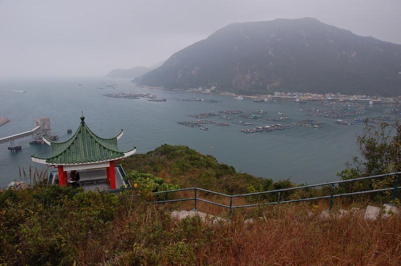 Overlooking Sok Kwu Wan, Lamma Island.