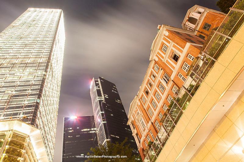 Cheung Kong Centre and Rawlinson House, Admiralty, Hong Kong Island, Hong Kong, China.