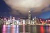 Hong Kong Island (view from Tsim Sha Tsui), Hong Kong, China.