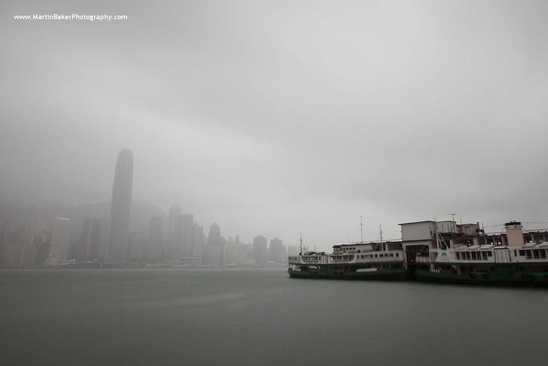 One International Finance Centre and Star Ferry Pier (view from Tsim Sha Tsui), Hong Kong, China.