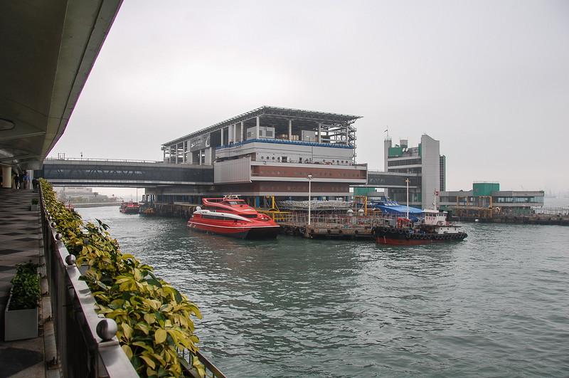 Hong Kong Macau ferry terminal.