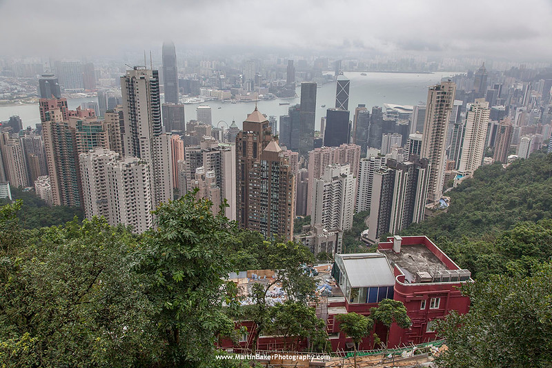 Central (view from Victoria Peak), Hong Kong Island, Hong Kong, China.