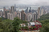 Central (view from Victoria Peak), Hong Kong Island, Hong Kong, China.