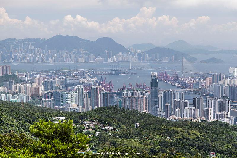 Tai Mo Shan Country Park (view towards Hong Kong Island), New Territories, Hong Kong, China.