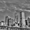 Downtown Hong Kong Skyline in Black and White